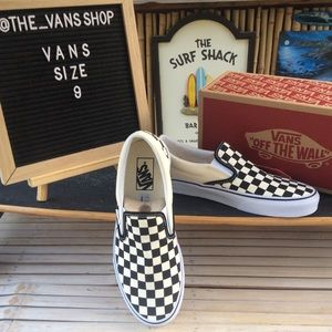 Vans Classic Slip-On Checkerboard Sneakers NWT